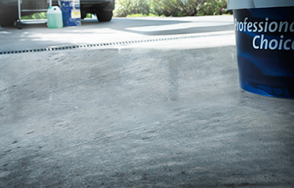 Industrial finish on concrete floor