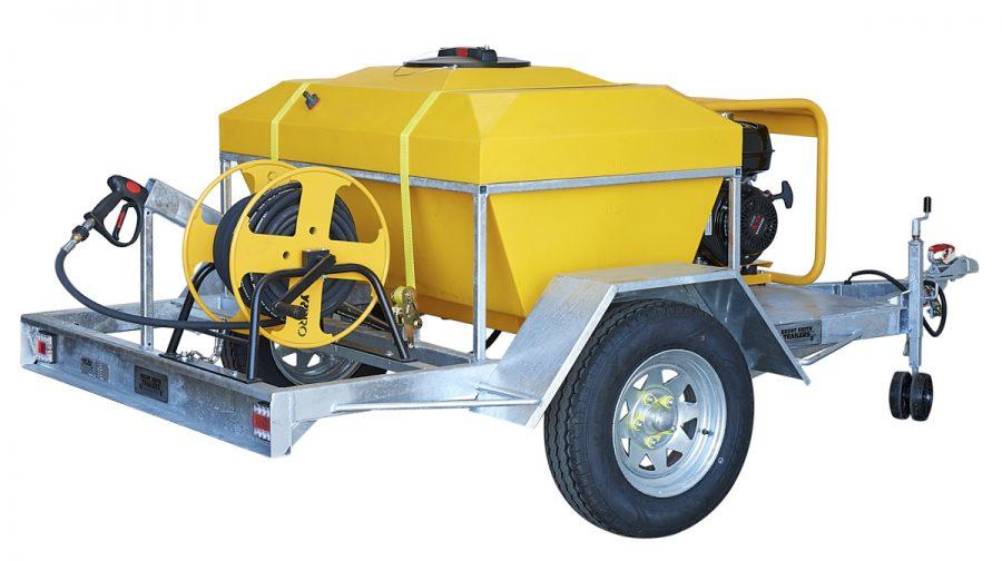 Trailerised Petrol Powered YR PRO Water Blaster 3700 psi 500L – ECO